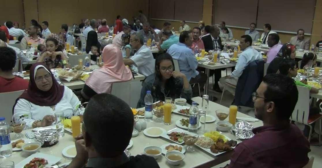إفطار جماعي لأعضاء هيئة تدريس جامعة أسوان