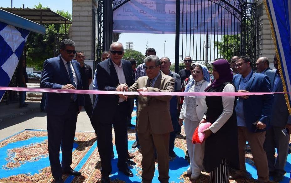 افتتاح معرض السلع الغذائية الثالث بجامعة بنها