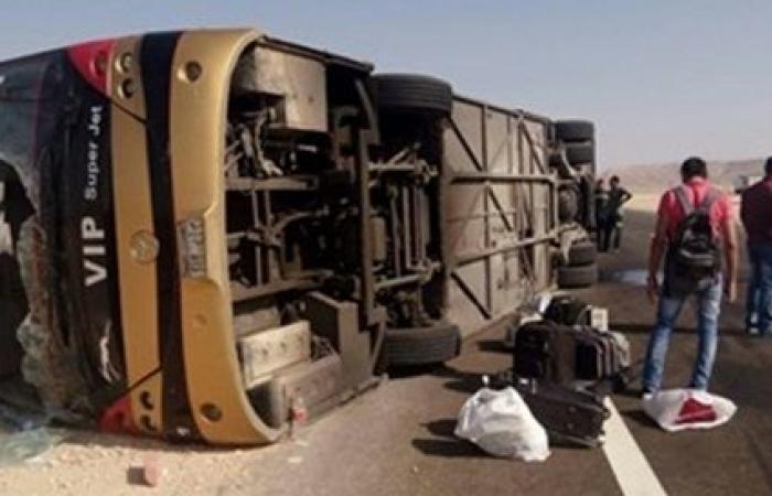 مصرع 5 سودانيين ومصري في حادث أوتوبيس على الطريق الصحراوي (أسماء)