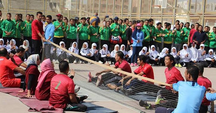 بطولة رياضية لذوي الاحتياجات الخاصة في جامعة بني سويف