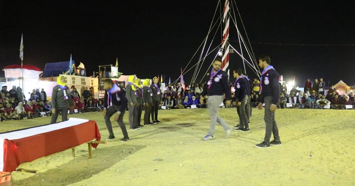جوالة جامعة المنيا تقيم حفل سمر بعنوان «حكاية شهيد» في أسبوع شباب الجامعات