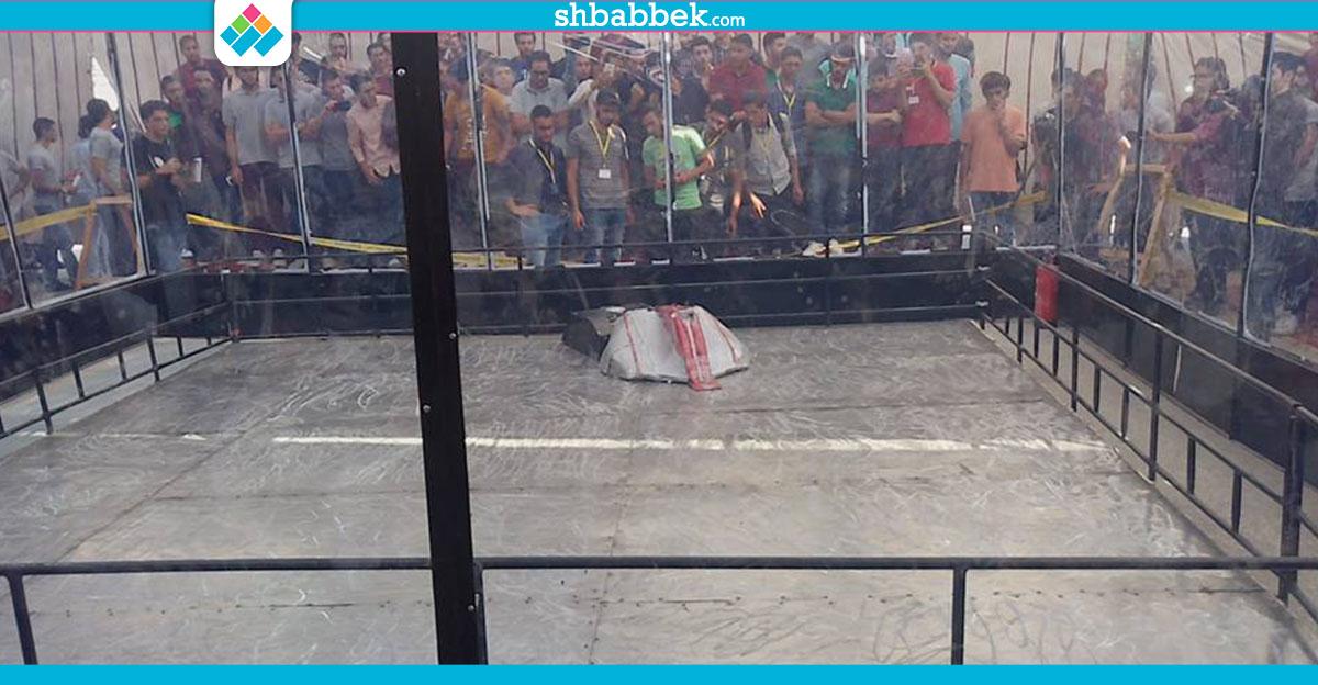 بالفيديو.. صعود 3 فرق إلى نهائي «حرب الروبوتات» بجامعة المنصورة