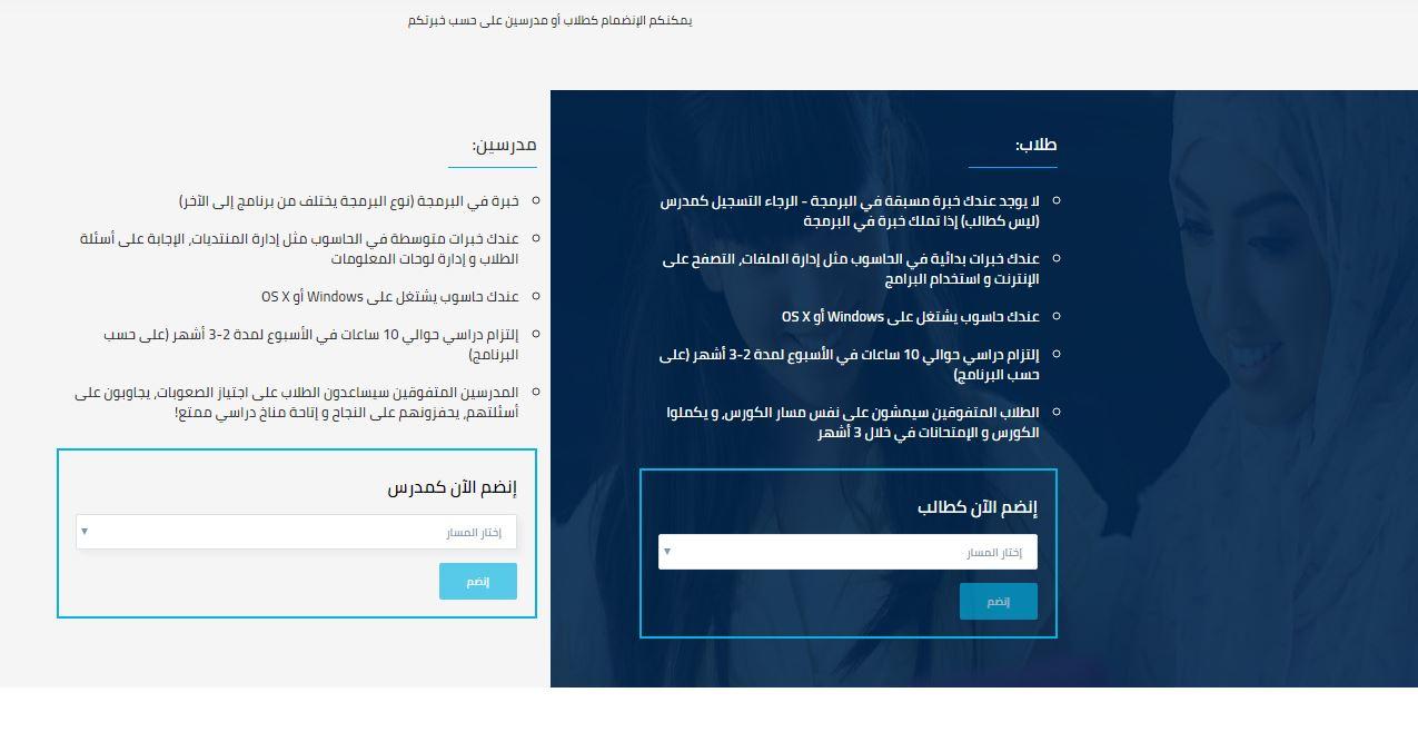 كيفية الانضمام لمبادرة مليوج مبرمج عربي