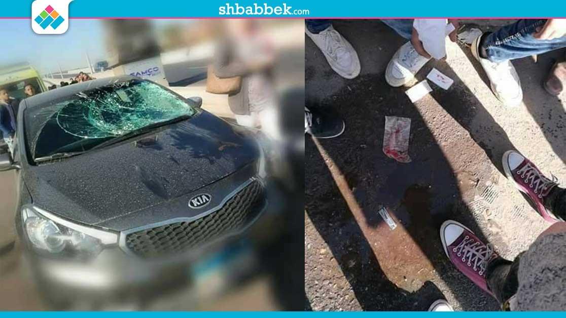 سيارة تصدم موظفة وطالبا أمام بوابة جامعة الأزهر