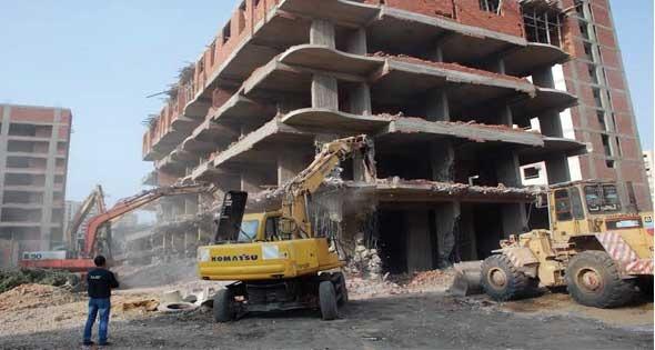 وزارة الإسكان والمرافق والمجتمعات العمرانية تأمر بإزالة التعديات بالمدن الجديدة