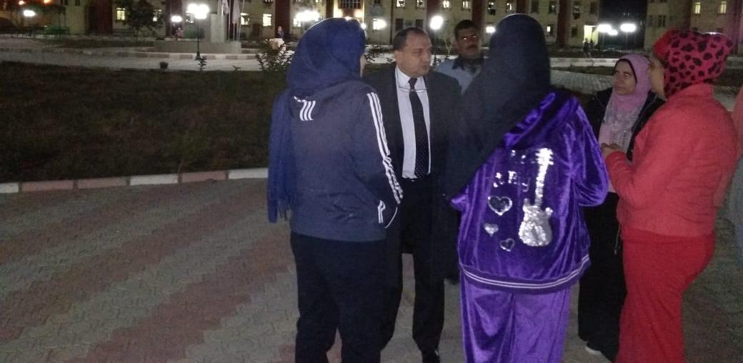رئيس جامعة بني سويف يتفقد مدينة الطالبات