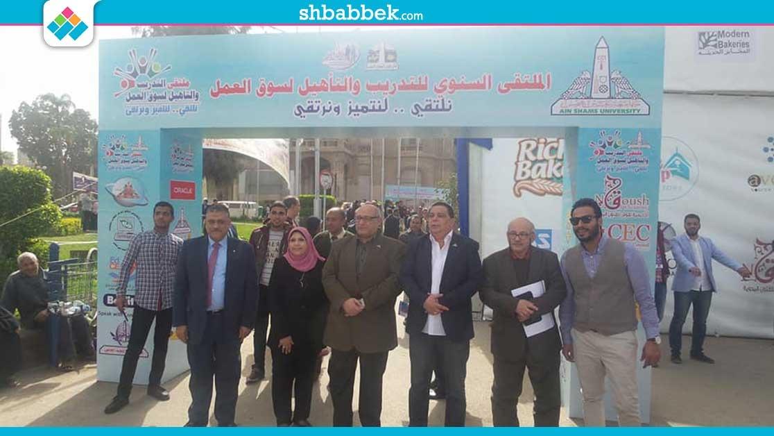 48 مؤسسة تشارك في ملتقى التدريب والتأهيل بجامعة عين شمس «صور»