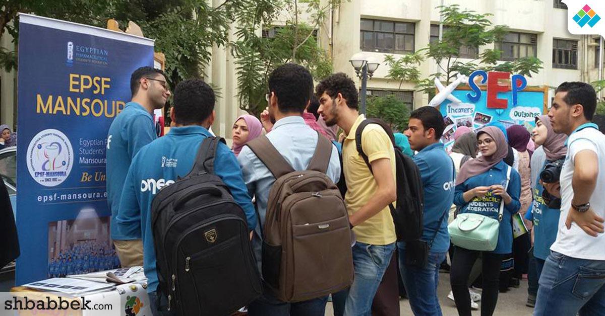 لقبول طلاب جدد.. حملة تعريفية بأنشطة الجمعية العلمية بصيدلة المنصورة (صور)