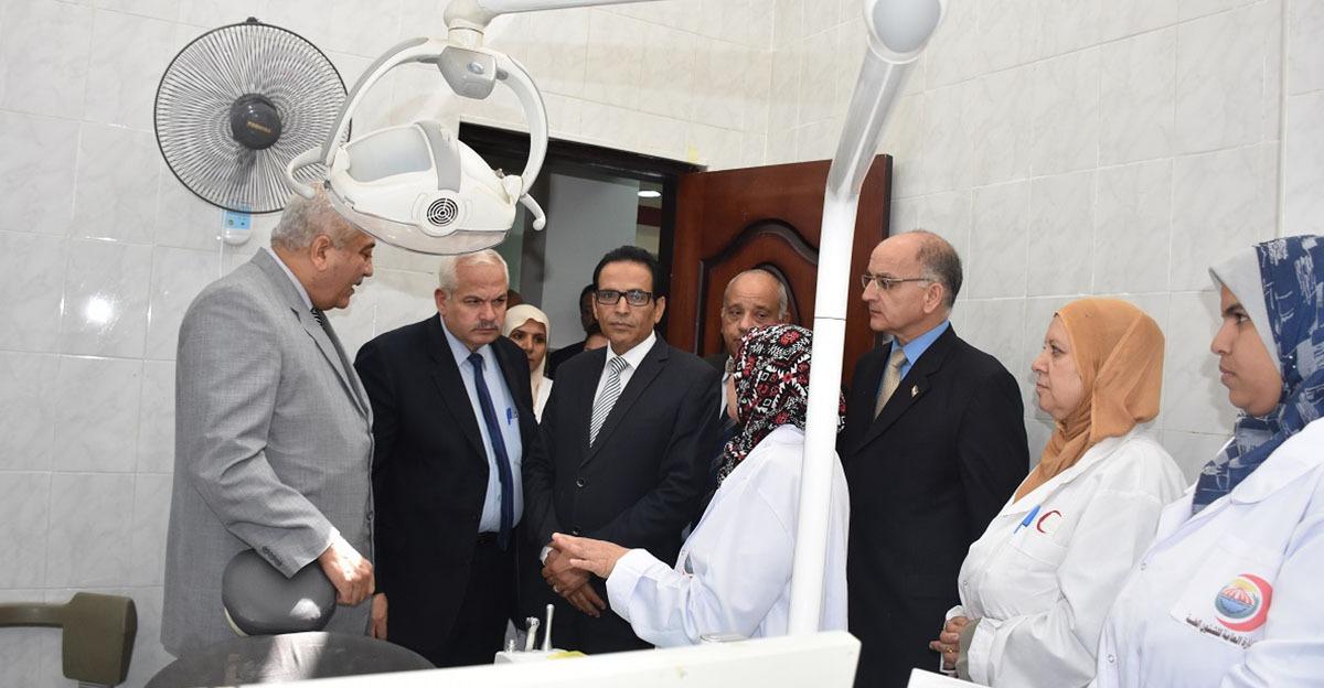صور  افتتاح مبنى الإدارة الطبية الجديد بجامعة مدينة السادات