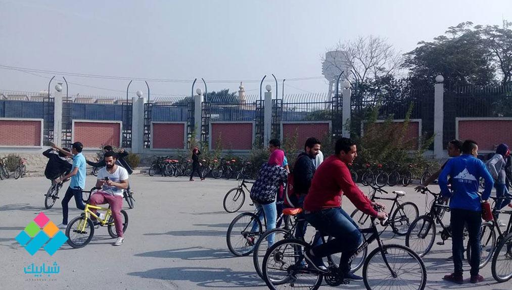 «هاو تو بي» تنظم ماراثون ركوب الدراجات بجامعة حلوان