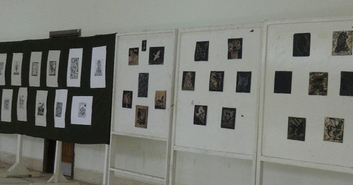 66 عمل فني في ورشة الجرافيك الأولي بجامعة المنيا (صور)