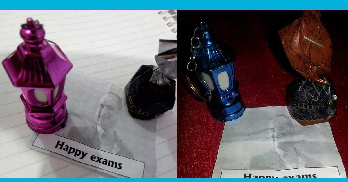 فانوس رمضان وشيكولاتة.. دكتور بـ«إعلام المنصورة» يوزع هدايا على الطلاب في الامتحان