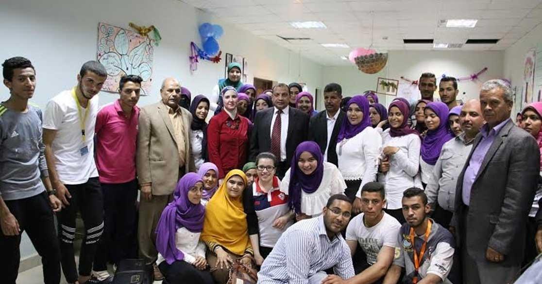 رئيس جامعة بني سويف يشهد ختام فعاليات المعسكر التدريبي الأول للطلاب