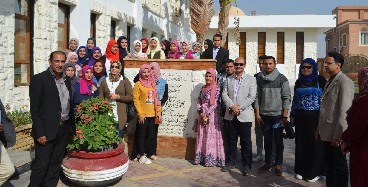 انطلاق الفوج الثامن من طلاب جامعة المنوفية لزيارة محطة مياه العاشر من رمضان