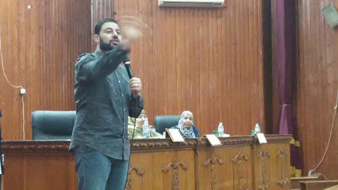 الداعية شريف شحاته يلتقي بطلاب جامعة المنوفية في ندوة «الحياة تحدي»