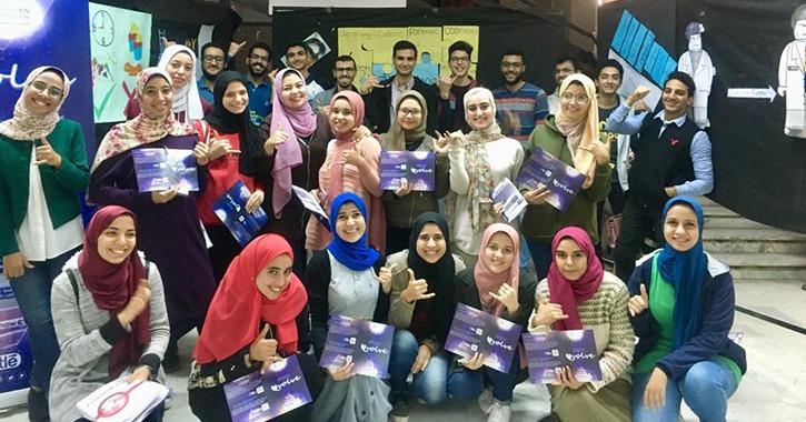 طلاب «EPSF» في جامعة طنطا ينظمون حملة بعنوان «evolve»