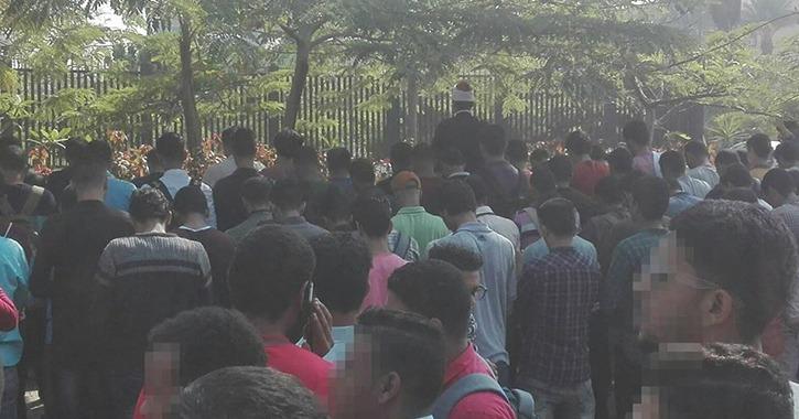 أداء صلاة الغائب على طالب كلية التربية جامعة الأزهر