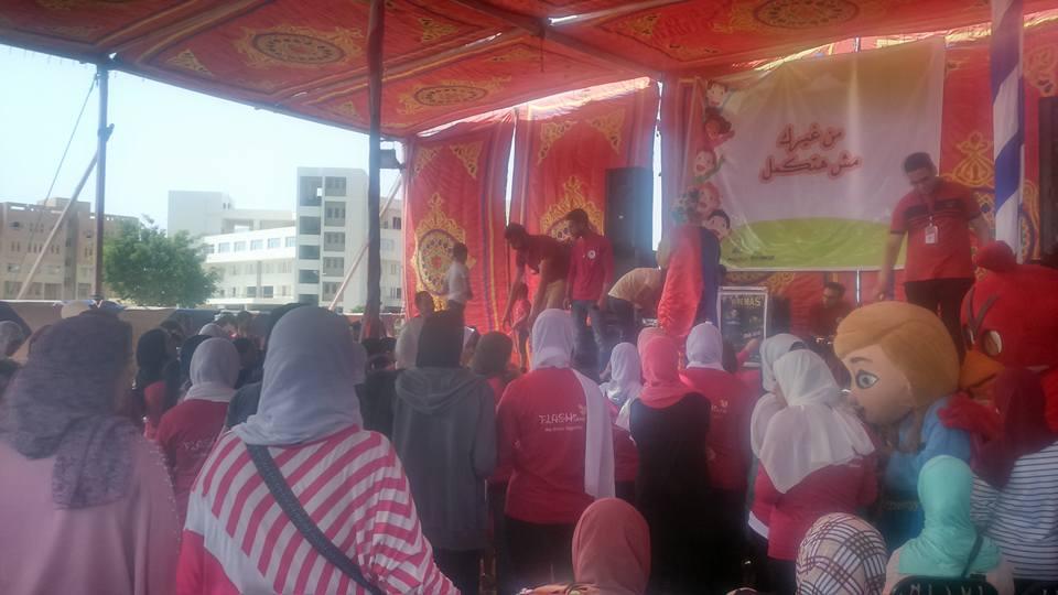طلاب أسرة فلاش بجامعة طنطا يحتفلون بيوم اليتم