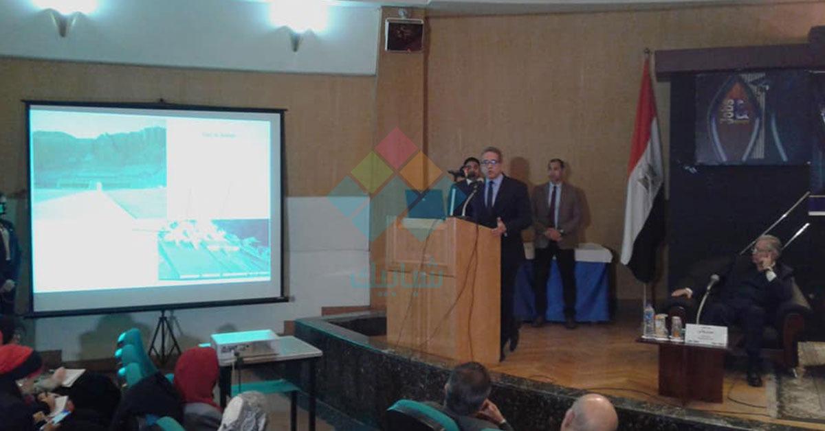 وزير الآثار يطالب جامعة حلوان بالتنقيب والبحث عن الاكتشافات