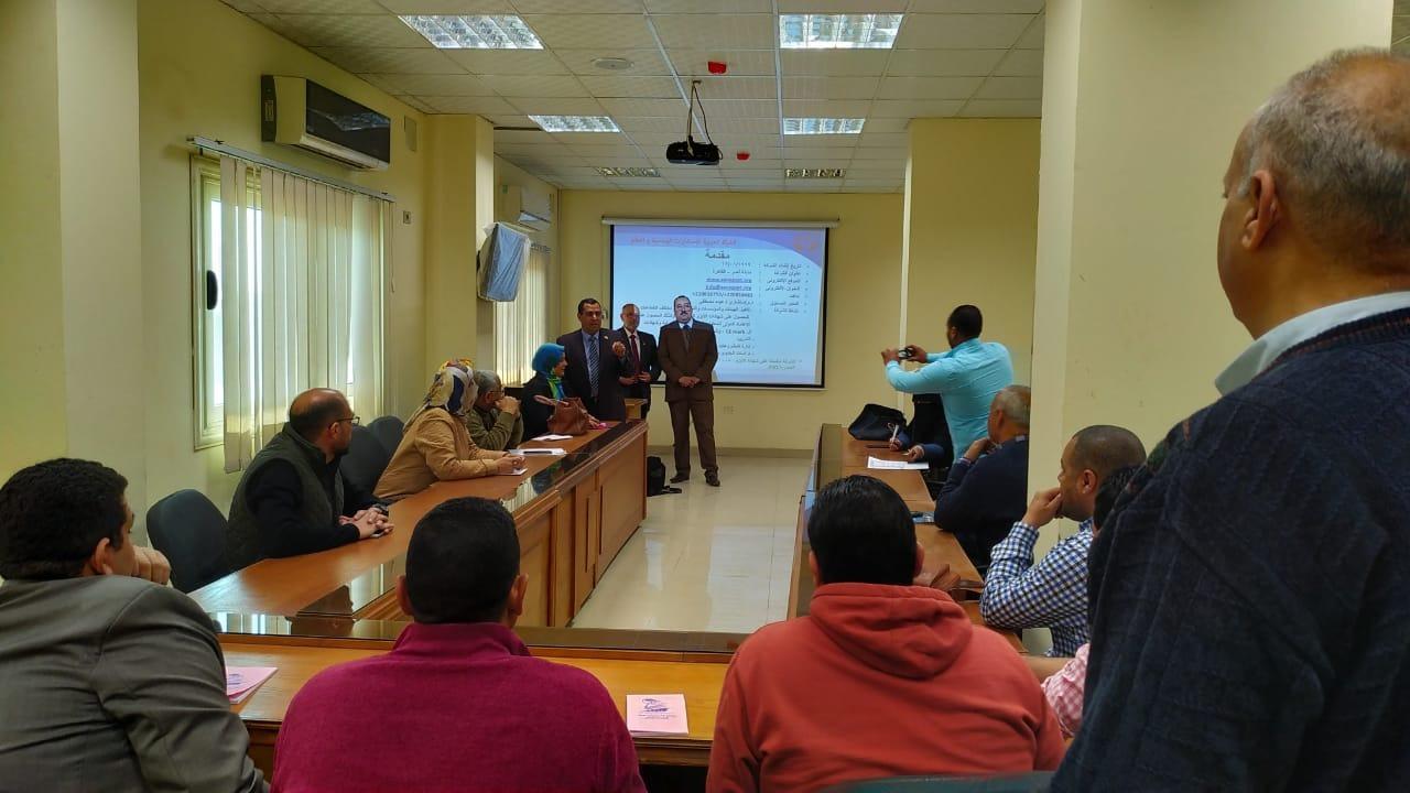 4 دورات تدريبية لتنمية الجهاز الإداري بجامعة بني سويف
