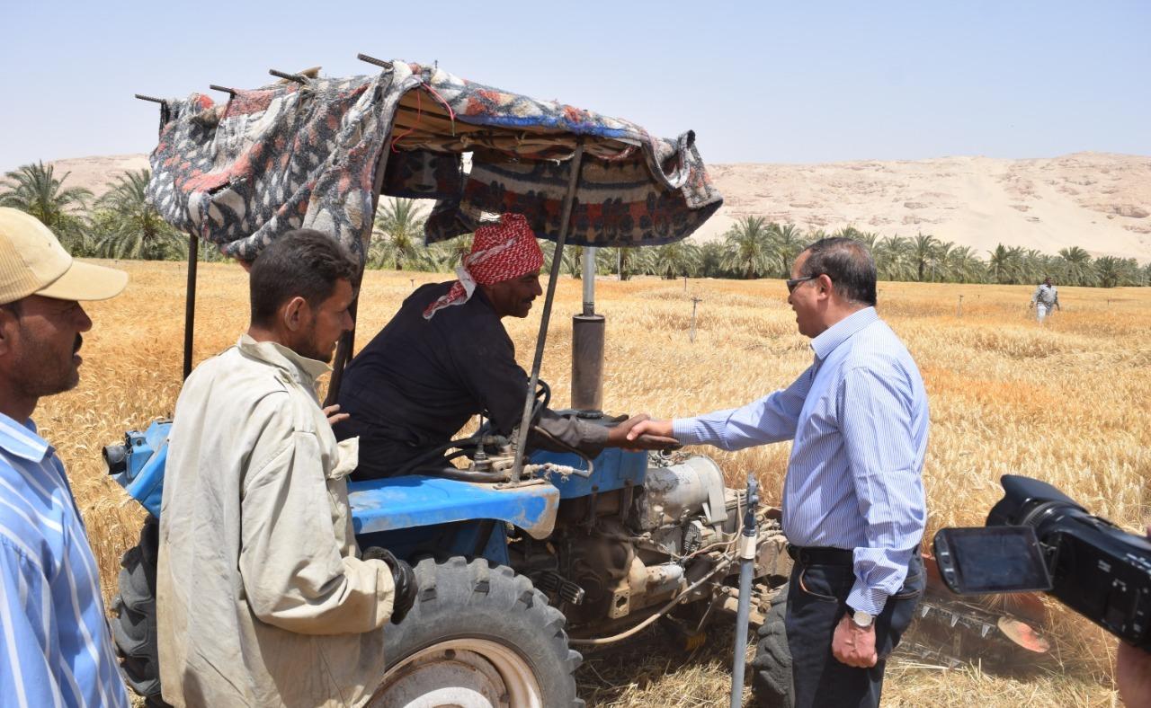 رئيس جامعة سوهاج: حصدنا القمح وكل عيد تحرير سيناء ومصر بخير (صور)