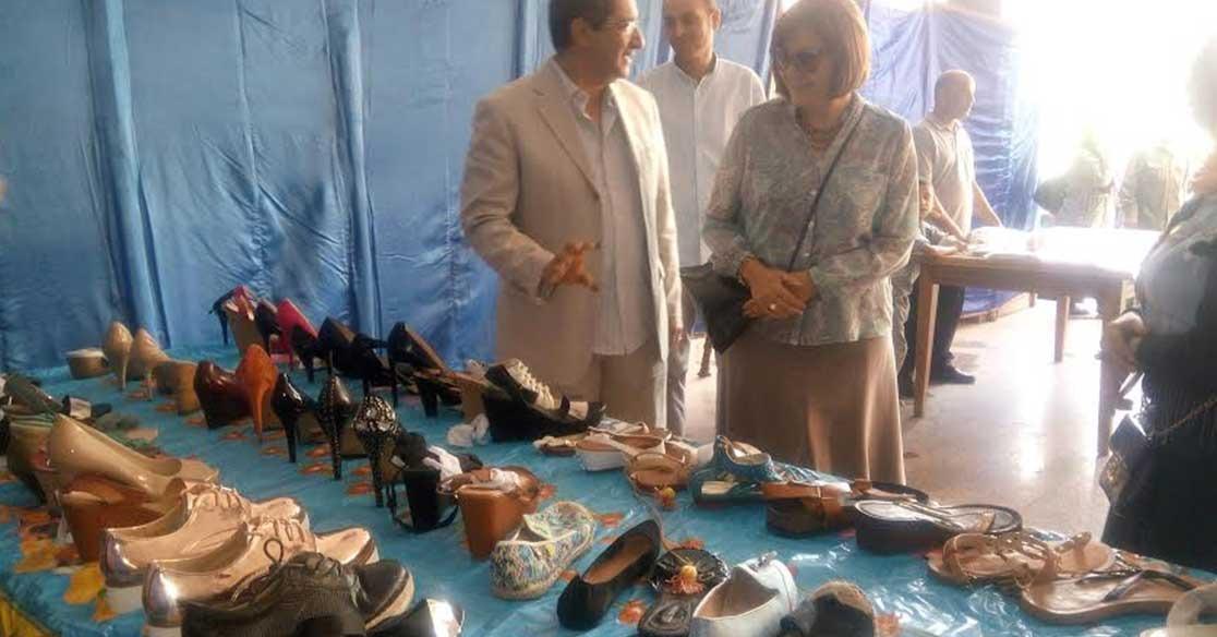 افتتاح معرض «أهلا بالعيد» للمنتجات الجلدية في جامعة عين شمس