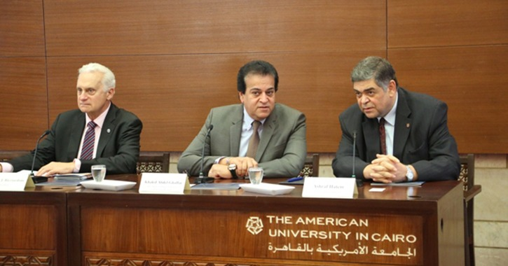وزير التعليم العالي يشارك في احتفال الجامعة الأمريكية بالحصول على الجودة