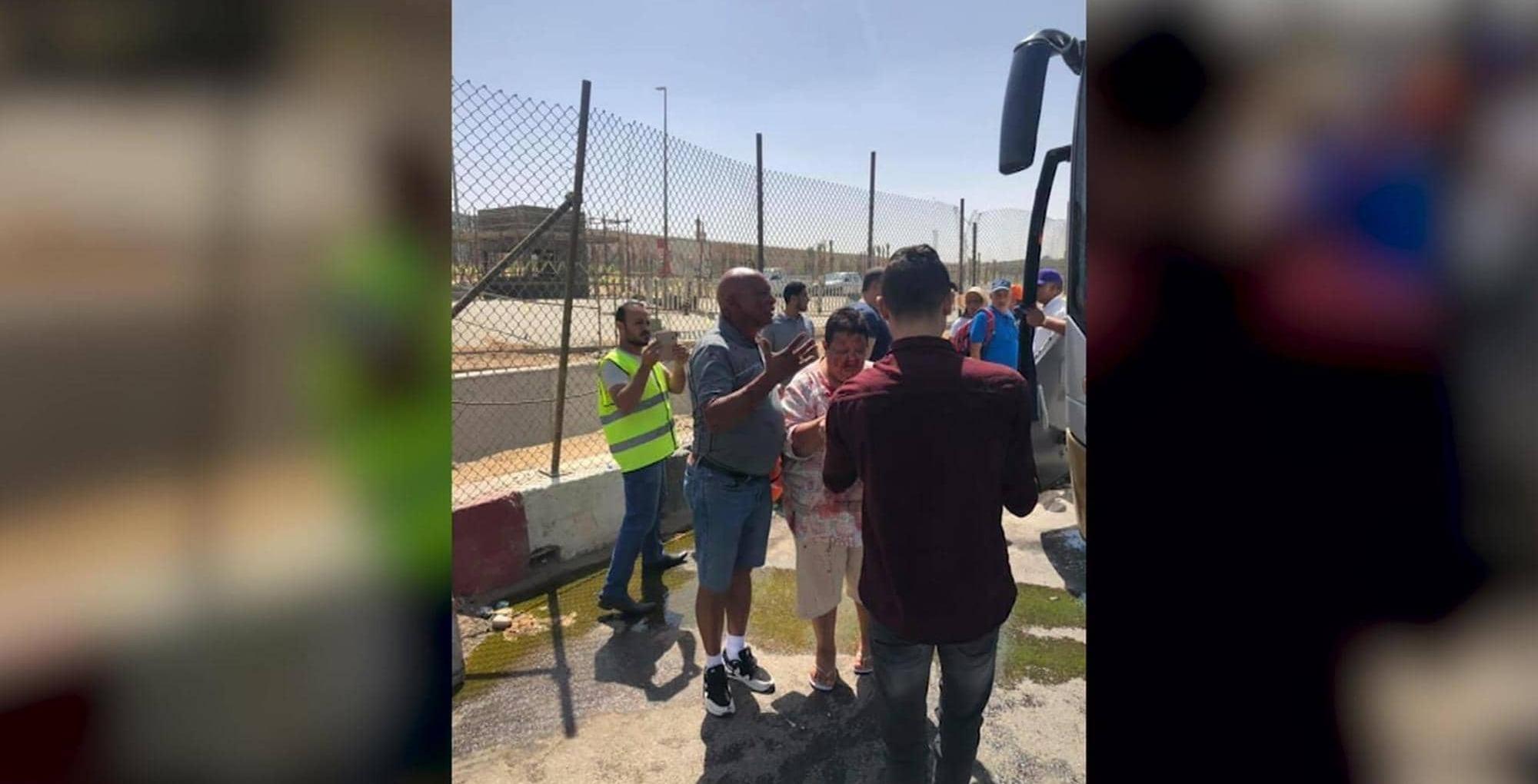 ارتفاع عدد مصابي انفجار «حافلة المتحف المصري الكبير» إلى 17 بينهم أجانب.. (صور)
