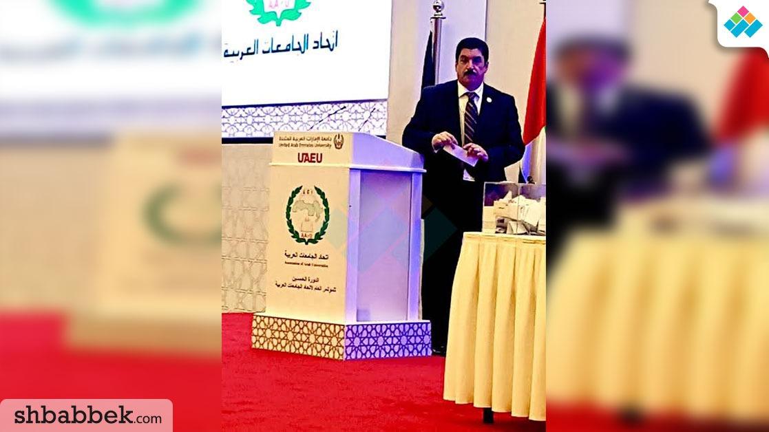رئيس جامعة بني سويف يهنئ عمرو عزت سلامة لفوزه بالأمانة العامة لاتحاد الجامعات العربية