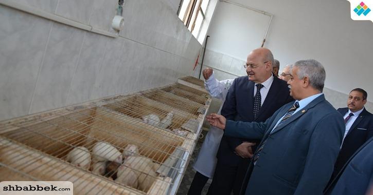 بالصور.. رئيس جامعة الزقازيق يفتتح وحدة بحوث حيوانات التجارب بطب بيطري