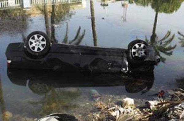 مصرع لاعب كرة قدم سابق انقلبت سيارته في ترعة بالفيوم