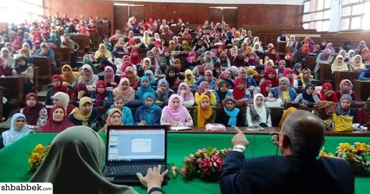 بالصور.. ندوة لتوعية الطالبات المقبلات على الزواج في جامعة المنوفية
