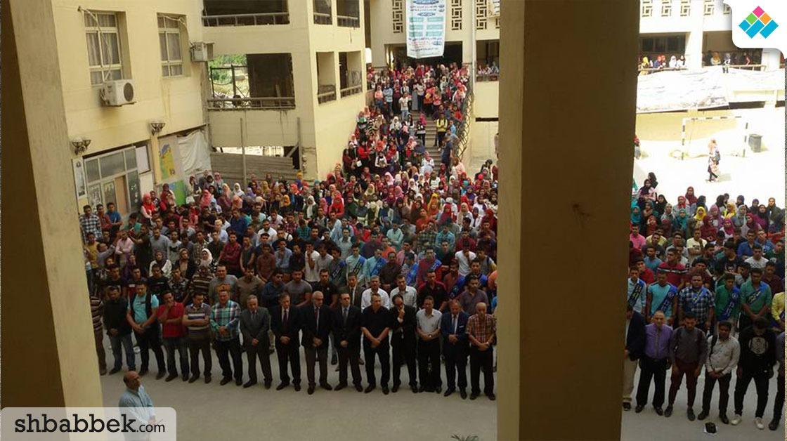 صلاة الغائب على ضحايا حادث الواحات في جامعة المنصورة