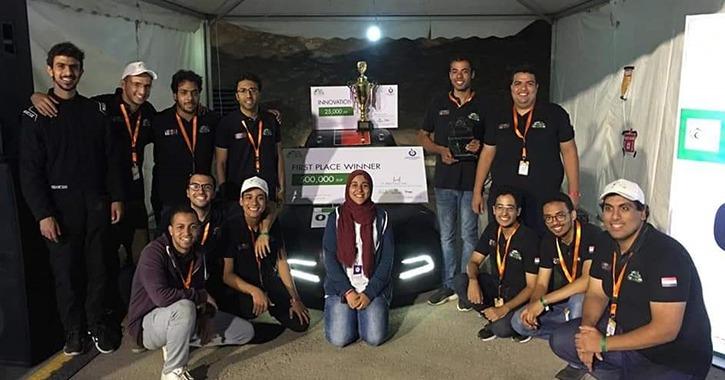 فوز كلية هندسة عين شمس بـ«رالي القاهرة الأول للسيارات الكهربائية»