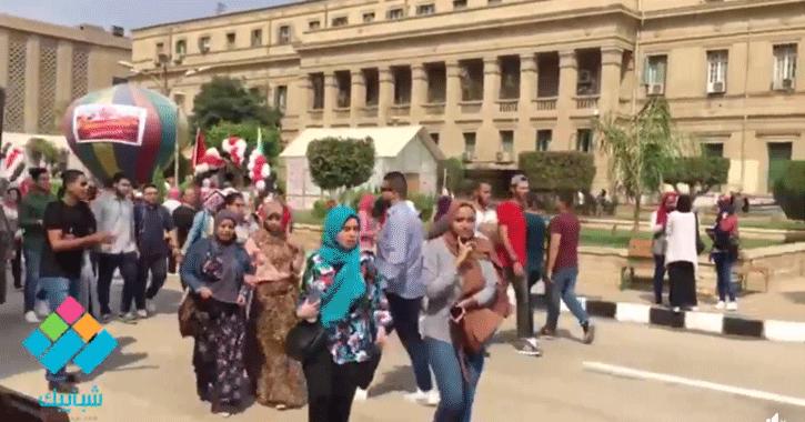 جامعة القاهرة في أول يوم دراسة