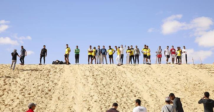 جامعة الفيوم تستضيف مهرجان التزحلق على الرمال بمشاركة 700 طالب