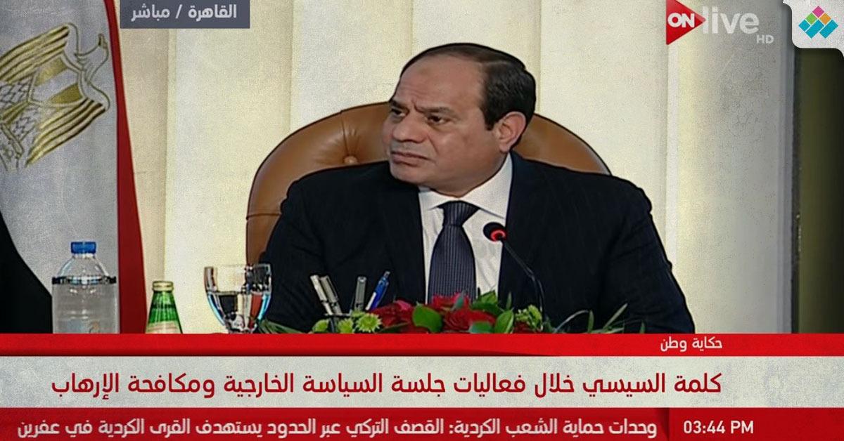 بالفيديو.. السيسي: «هنبقى غاشمين أوي في استخدام القوة بسيناء»