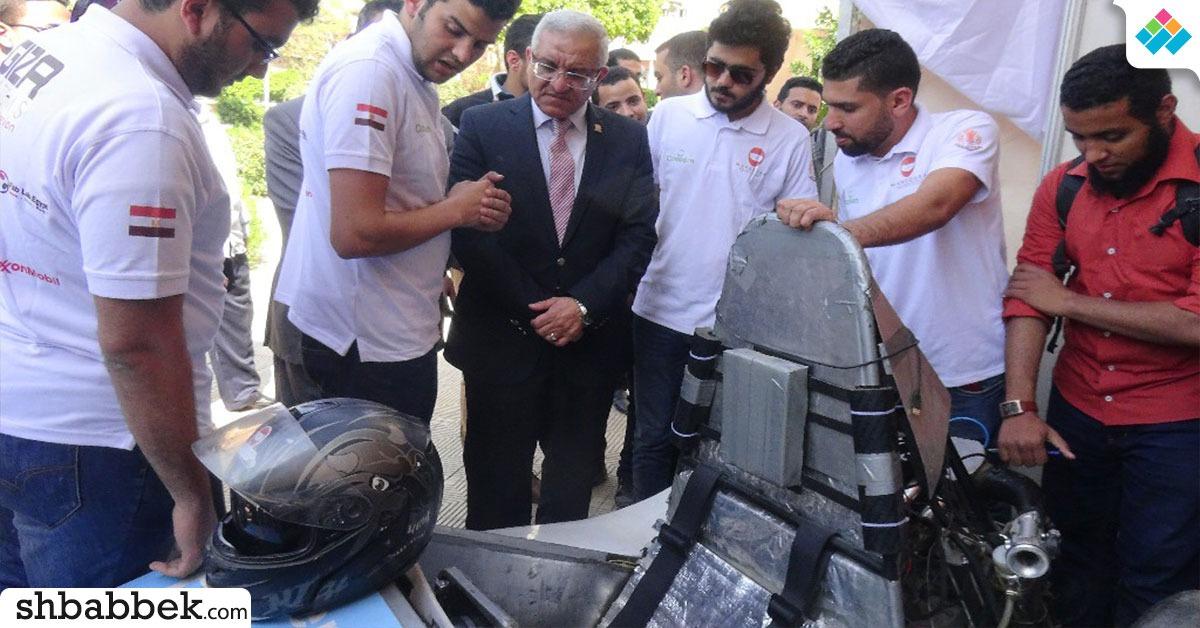 في يوم الإبداع.. 60 مشروع ابتكاري لطلاب الهندسة في جامعة المنيا (صور)
