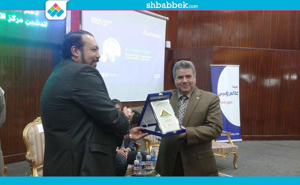 رئيس جامعة بنها يكرم المشاركين في ورشة «الابتكار وريادة الأعمال»