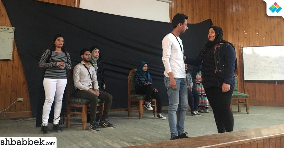 بالصور.. 12 عرض مسرحي لطلاب جامعة المنيا