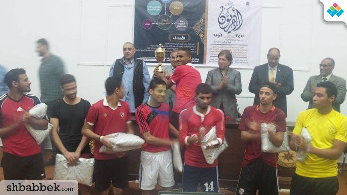 لقاء رياضي بجامعة الأزهر بحضور عزمي مجاهد وثروت سويلم