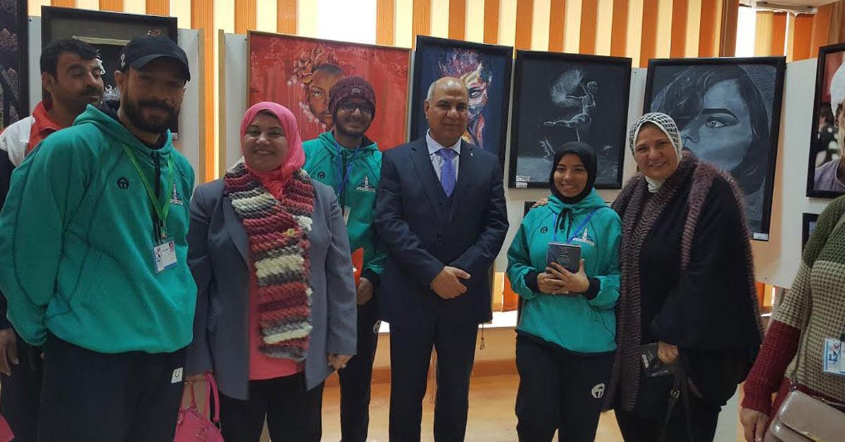 فوز جامعة عين شمس بالمركز الثالث في مسابقة الفنون التشكيلية بأسبوع شباب الجامعات