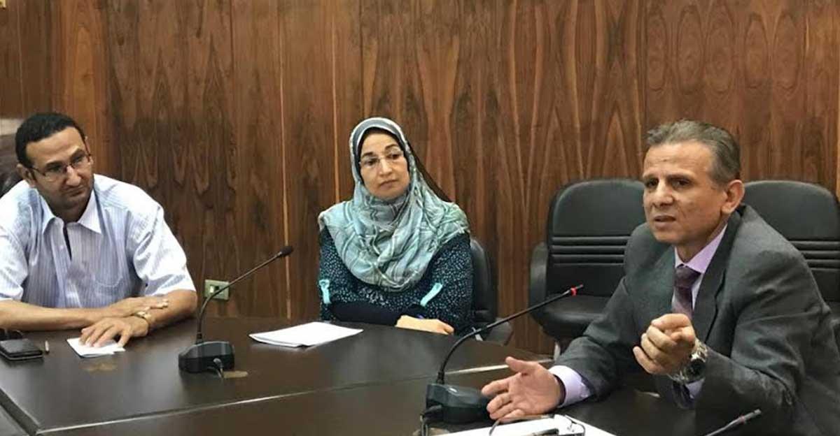 نائب رئيس جامعة طنطا يناقش أوضاع الوافدين مع مديري العموم بالكليات