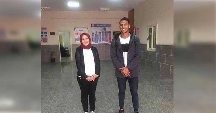 محمد طارق ونورهان نجا الطلاب المثاليين في كلية تربية رياضية جامعة طنطا