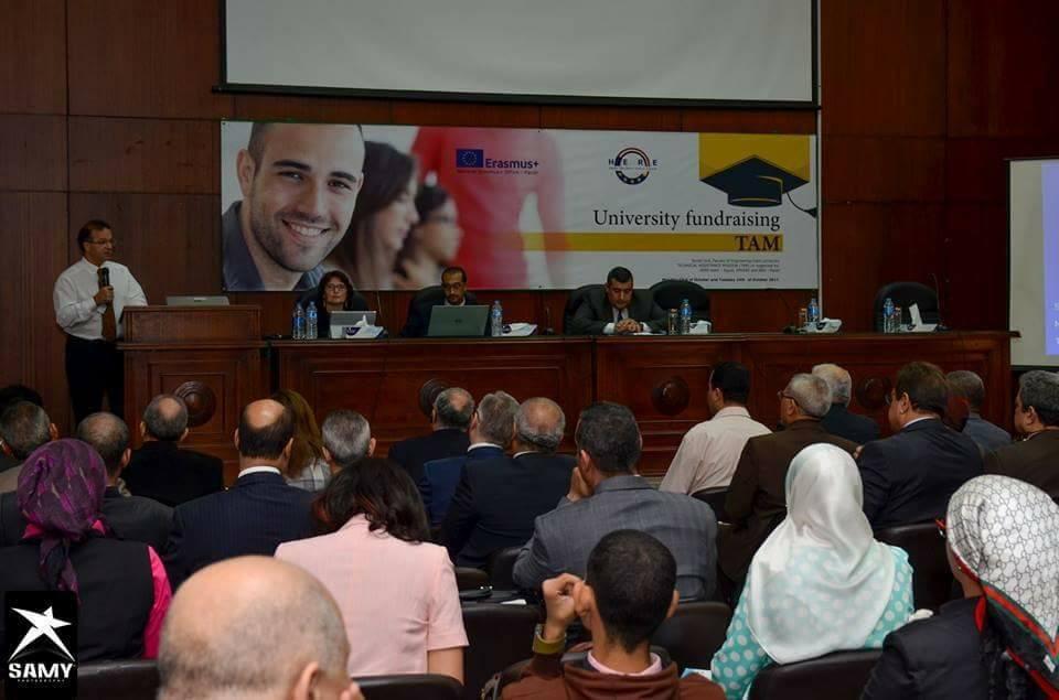 جامعة المنصورة تشارك في ورشة عمل زيادة فرص تمويل الجامعات