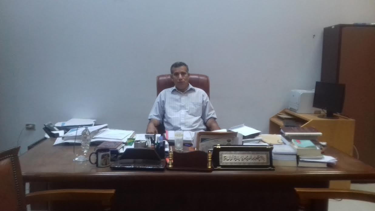 عادل الدرغامي قائما بعمل عميد دار العلوم جامعة الفيوم
