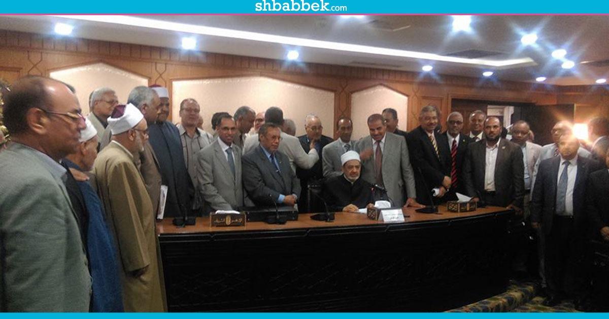 بالصور.. مجلس الجامعة يقدم الولاء لشيخ الأزهر ويدعم قراراته