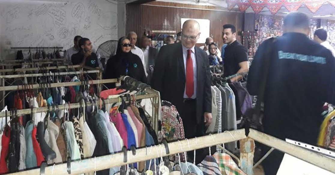 عميد تجارة عين شمس يفتتح معرض سوق الخير