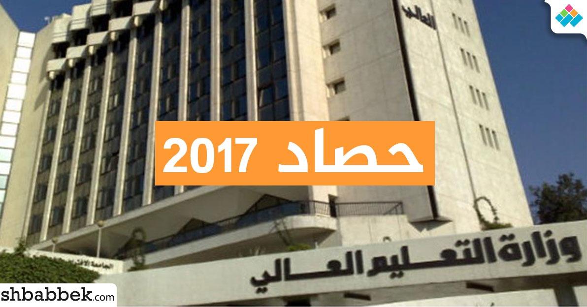 حصاد وزارة التعليم العالي في 2017