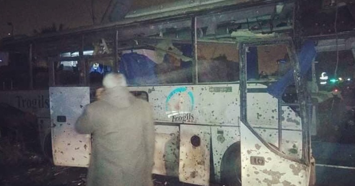 انفجار أتوبيس سياحي في منطقة الهرم